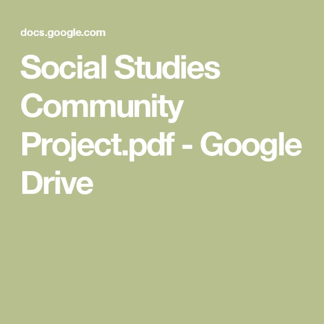 Social Studies Community Project.pdf - Google Drive