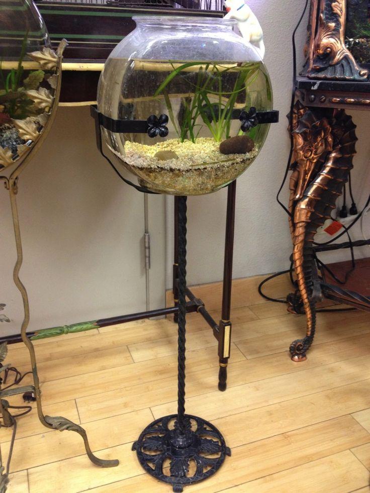 47 best aquariums vintage images on pinterest for Fish bowl stand