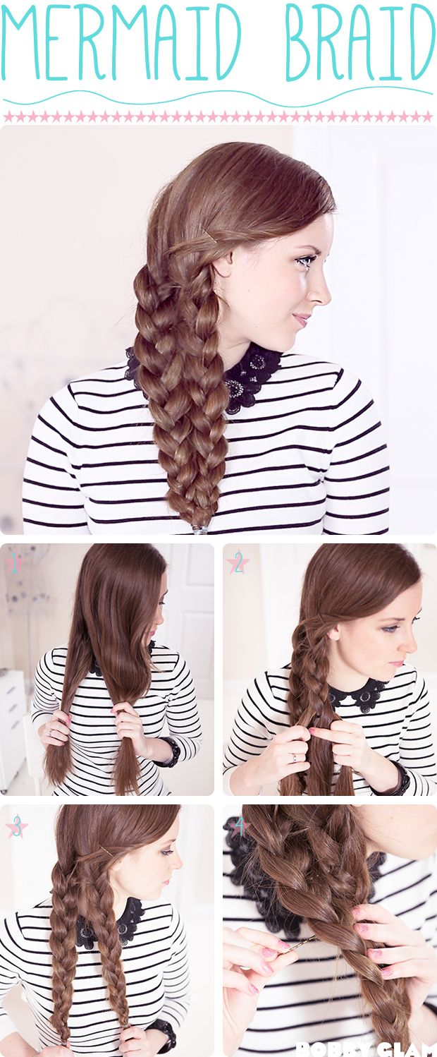 Mermaid Braid Hair Tutorial! I've always wondered how to do this hairstyle and thought it looked ridiculously hard, but it's actually really simple