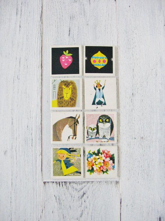 Vintage 1959 Ravensburger Spiele Original Memory German Kids Game