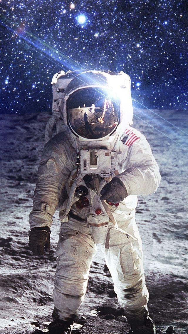 Astronaut Space Art Moon Dark #iPhone #5s #wallpaper
