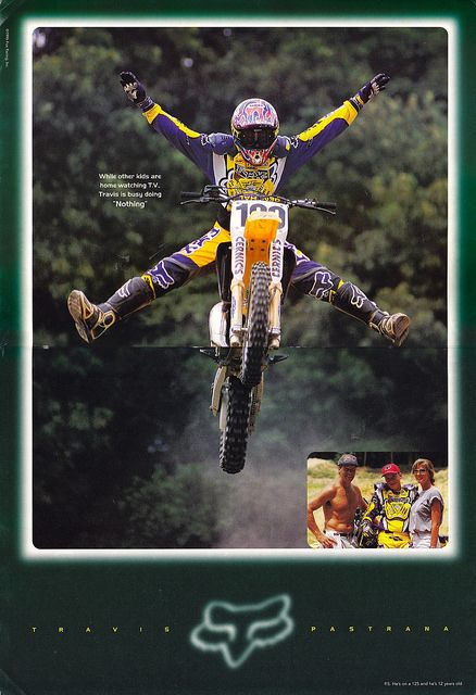 1996 Travis Pastrana Fox Racing ad