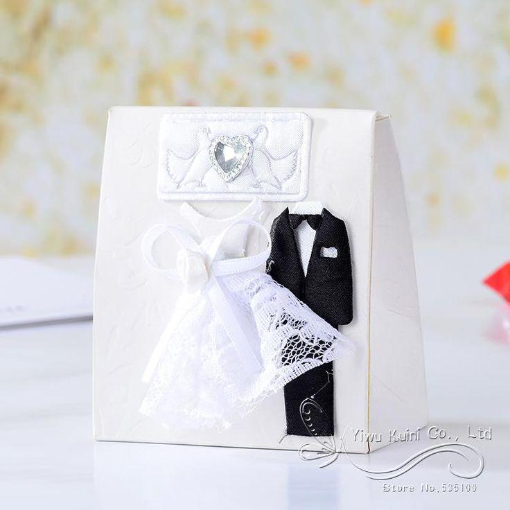 Aliexpress.com : Acquista 12 pz dress tuxedo dolci bianco e crema scatole di caramelle regalo sposa e sposo wedding favor boxes decorazione di souvenir forniture da Fornitori bomboniera di nozze affidabili su Shenzhen Bluebird E-Commerce Co., Ltd.