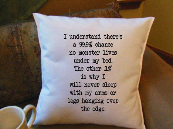 monster under my bed throw pillow cover custom by MinnieandMaude