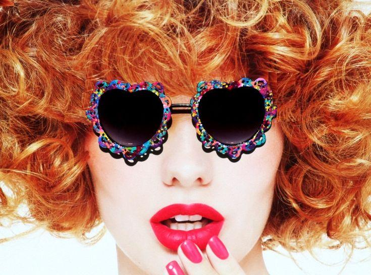 Painter's Pallete Hippie Sunglasses, Heart Shaped Sunglasses, 1960's Eye wear, Womens Sunglasses, Hippie Era Sunglasses by SunglassShenanigans on Etsy