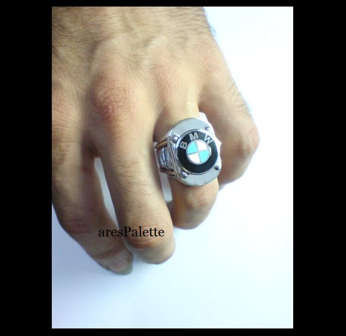 """#bmw #bmwjewelry #silver #carjewelry #menrings #motorbike http://BMW """"Aircooled"""" Special Design Handmade Ring-925 silver"""