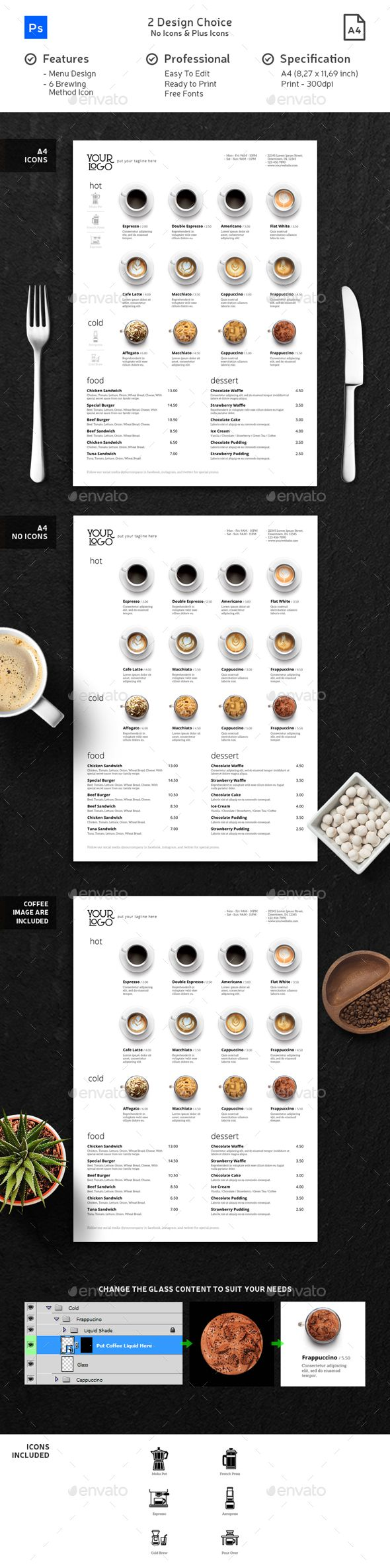 25 best ideas about menu templates on pinterest
