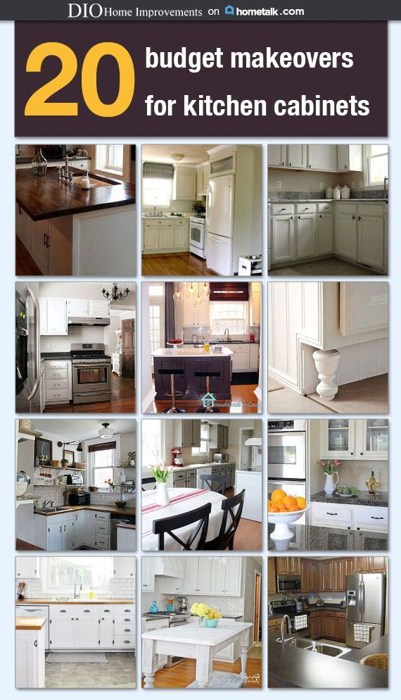 20 budget kitchen cabinet makeovers diy home decor for Budget kitchen cupboards