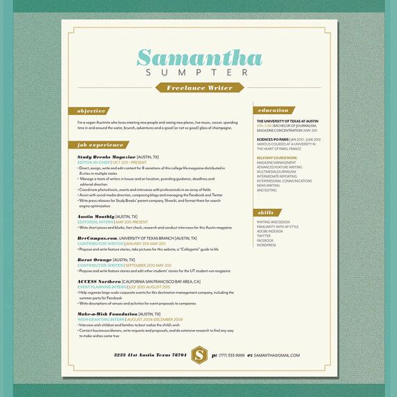 41 best R E S U M E S images on Pinterest Resume, Resume ideas - artsy resume templates