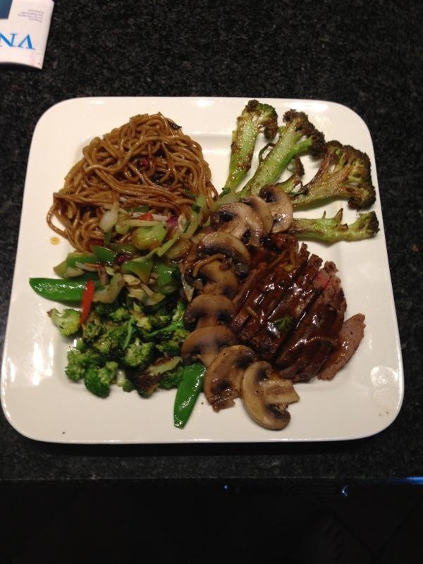 Heerlijk noedels broccoli rundvlees
