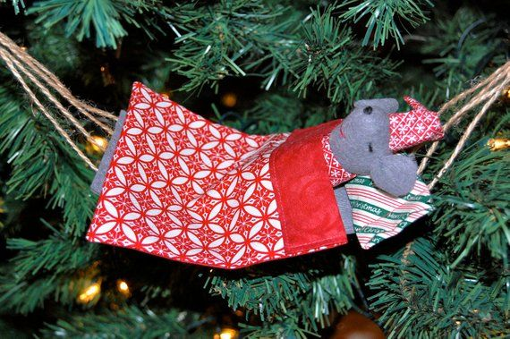 Mouse In Hammock Ornament Sewing Pattern Mouse Crafts How To