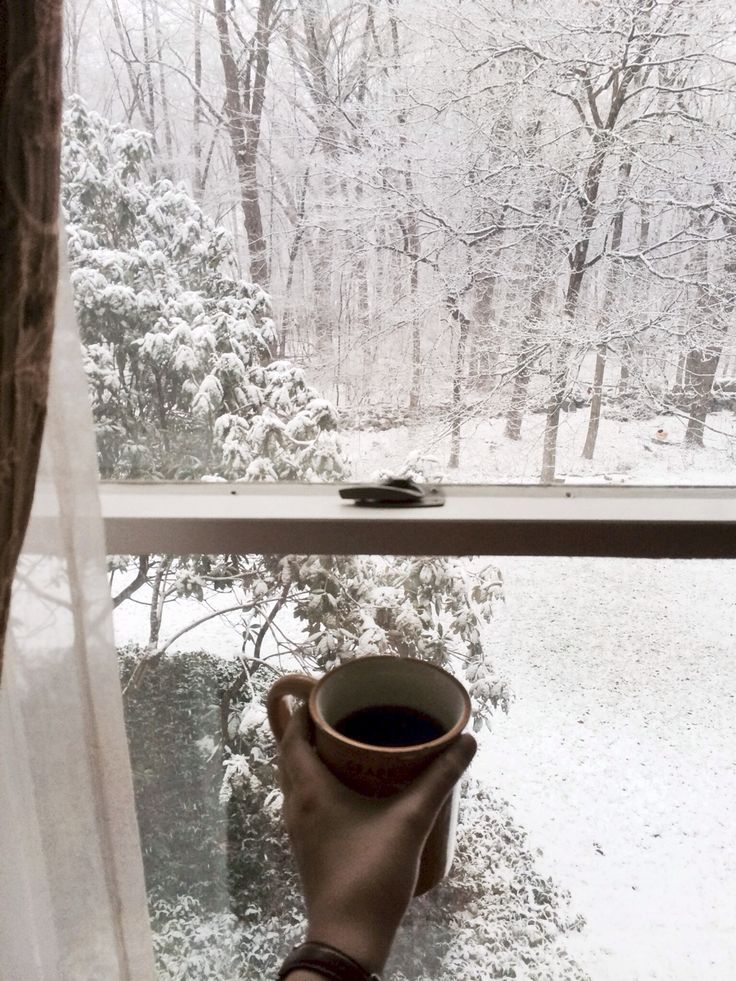 "pearlkillers: "" Woke up to snowfall and coffee. I think cinnamon rolls are on the docket for my to-do list this morning. """