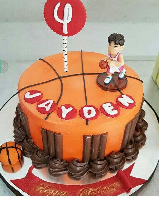 Basket ball birthday cakes