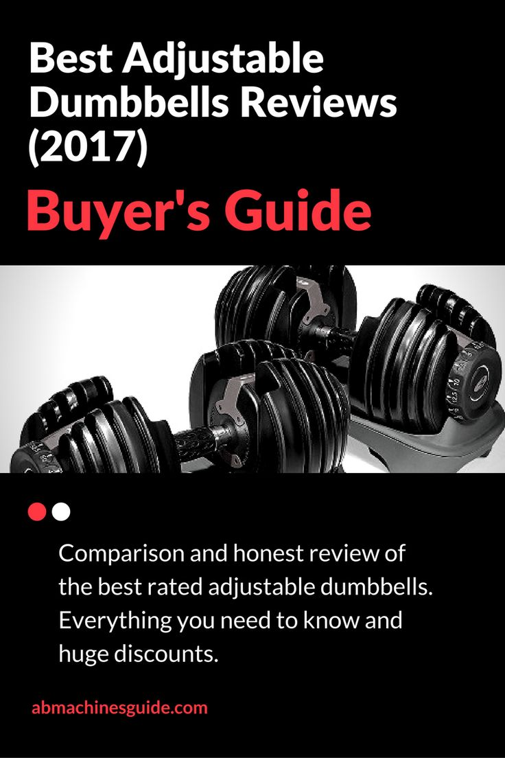 Best Adjustable Dumbbells Reviews (2017) & Buyer's Guide http://abmachinesguide.com/adjustable-dumbbells-reviews/ #workout #gym