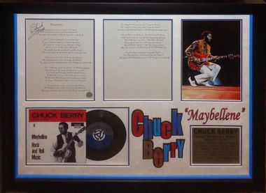 Chuck Berry Signed Maybellene Lyrics