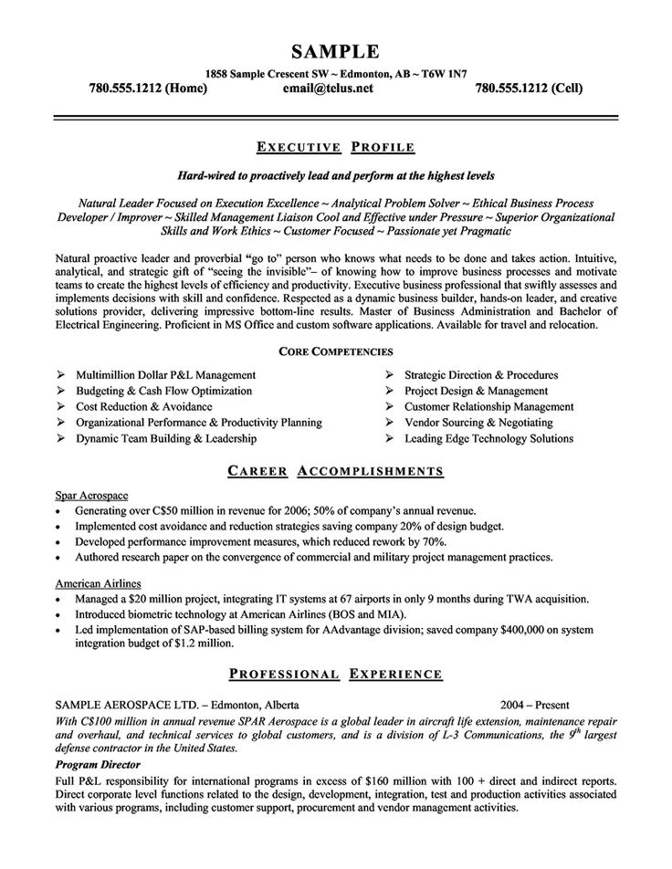 19 best resume images on Pinterest | Sample resume, Management and ...