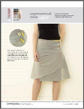 Free Pattern: Asymmetrical Folds Skirt
