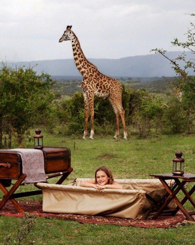 Bathtime in the Bush at Cottars Camp in #Kenya #Africa