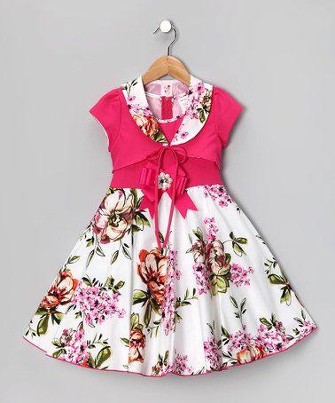 Look at this #zulilyfind! Pink Floral Dress & Shrug - Toddler & Girls #zulilyfinds
