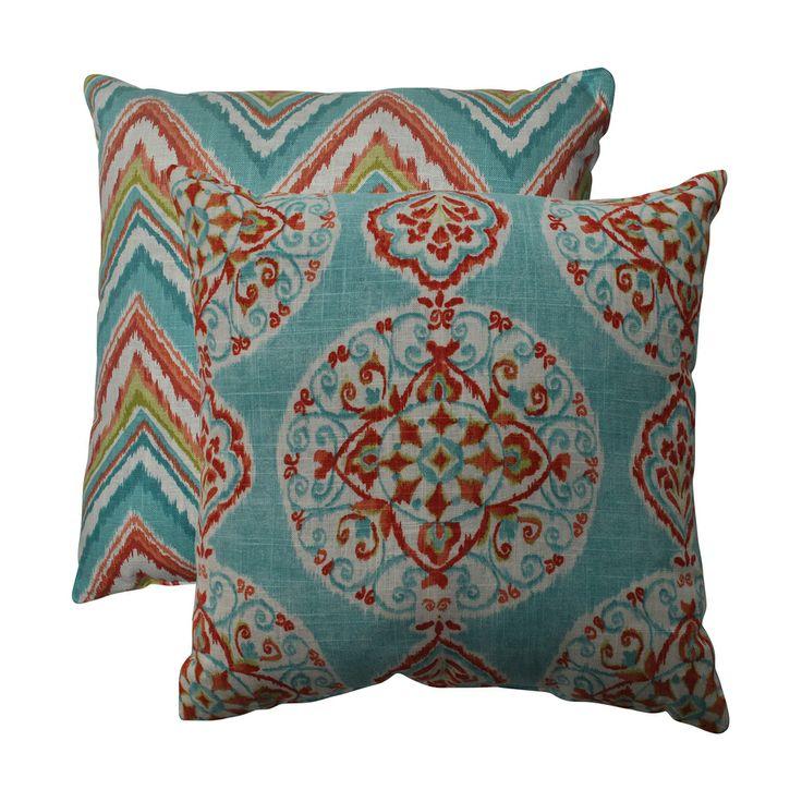 Pillow Perfect Mirage/ Chevron 16.5-inch Throw Pillows (Set of 2)   Overstock.com Shopping - The Best Deals on Throw Pillows