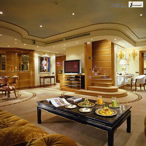 ... With Nice Dining Set With Classic Furnitures And Center TV Cabinet  Coupled With Wooden Staircase Design For Modish Interior Design Ideas For  Apartment ...
