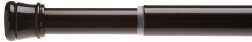 Shower Curtain Rod, Twist Tight Tension Bar, Black