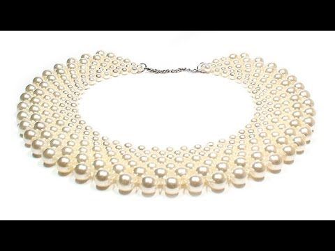 Beading4perfectionists : Netted necklace : Increasing and decreasing rows beading tutorial - YouTube