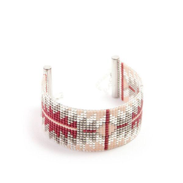 Manchettes, Bracelet tissé en perles miyuki Manchette tissé  est une création orginale de tadaam sur DaWanda