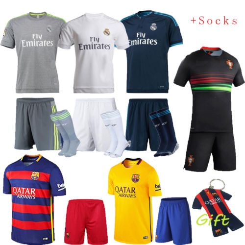 2016 kids football #soccer kit short #sleeve kid boy #youth team suit 3-14 yrs+so,  View more on the LINK: http://www.zeppy.io/product/gb/2/191879194956/
