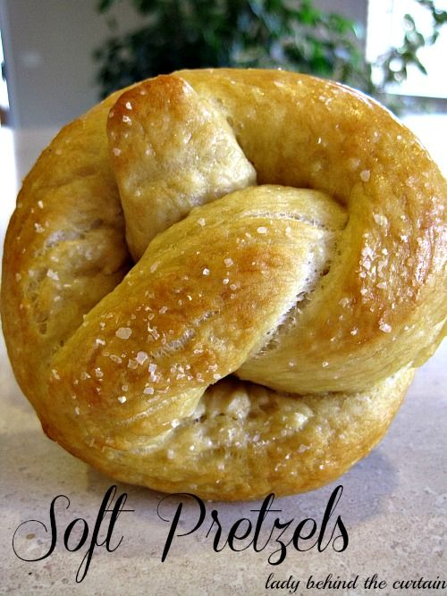 Lady Behind The Curtain - Soft Pretzels made in bread machine