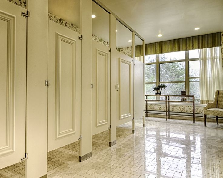 Ironwood Manufacturing Laminate Toilet Partition With Molding Bathroom  Doors. Beautiful, Upscale Toilet Restroom Stalls