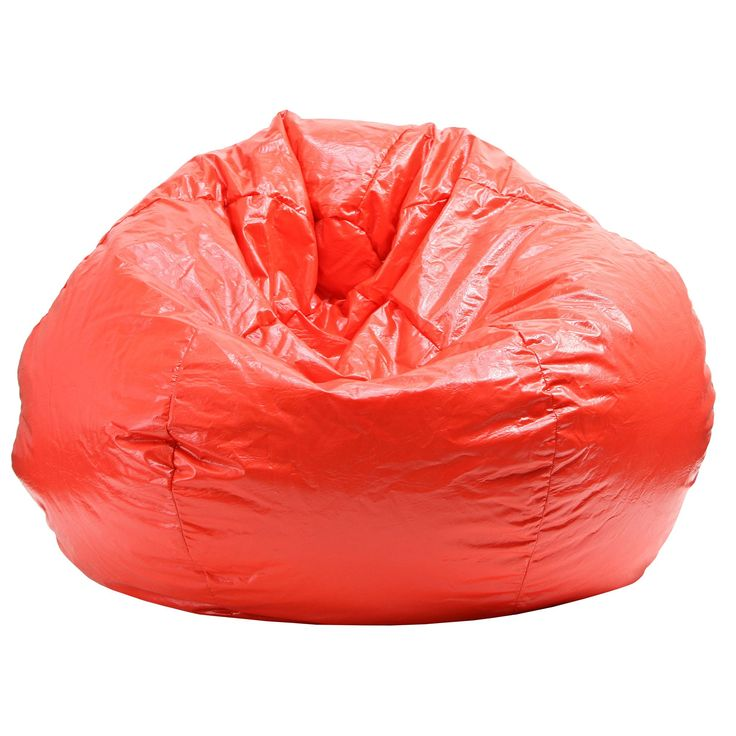 Gold Medal Extra Large Red Bean Bag (Extra Large Wet Look Vinyl Bean Bag)
