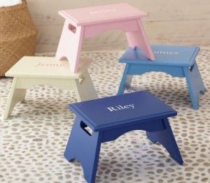 DIY pottery barn kids stool  tutorial. The sad part is that some of us adults here still need these! haha