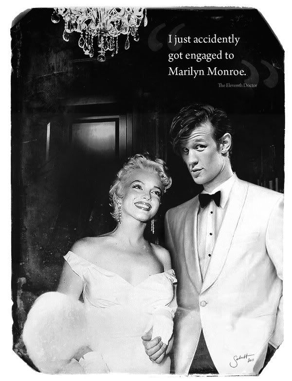The 11th Doctor and Marilyn Monroe...Just wait til River finds out lol