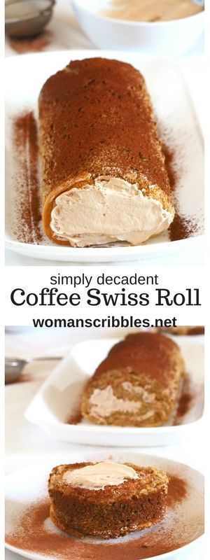 A simple yet elegant cake, coffee Swiss roll has a nice and creamy coffee whipped cream icing enclosed in a soft and light coffee flavored chiffon cake.