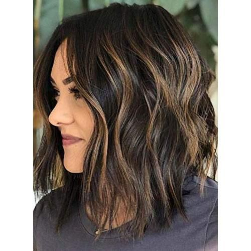 Moresoo Haar 130% Dichte Bob Perücke Lace Front – mehr