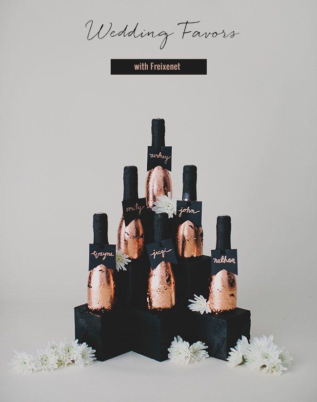 Freixenet champagne escort card favors