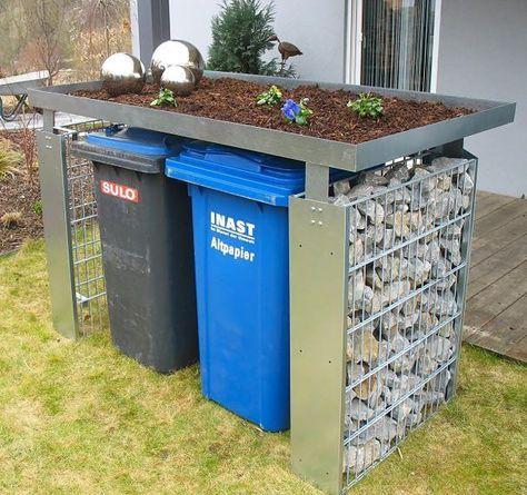 Sichtschutz für Mülltonnen Garten ideen gestaltung