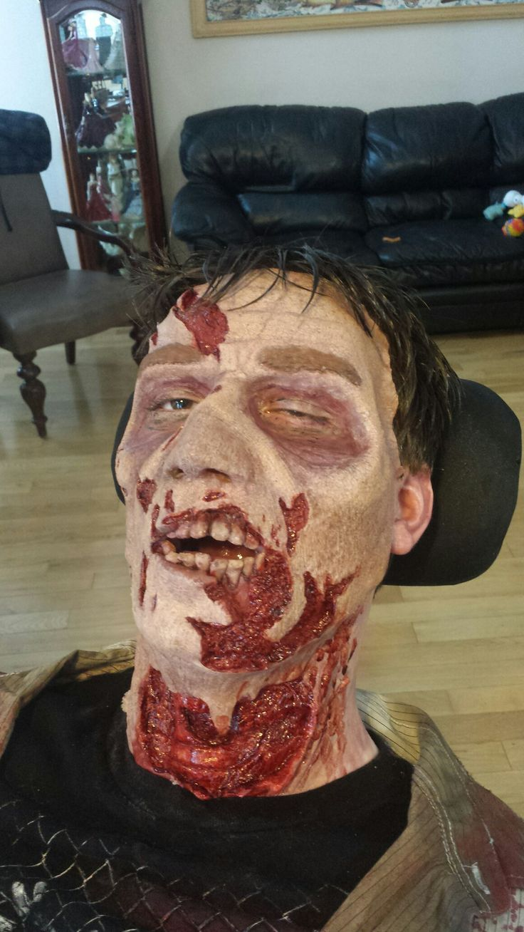 Zombie make up by Mark McGrath
