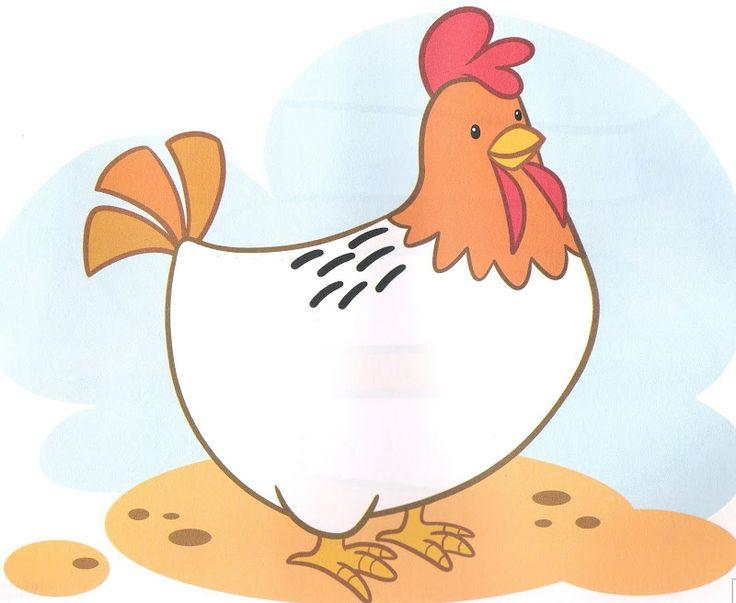 schrijfpatroon kip voor kleuters