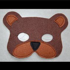 Masque en feutrine : ours