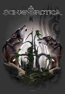 52044 Sonata Arctica - Two Wolves Fabric Poster – Preegle.com