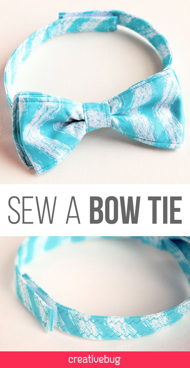 Pssst. You know that Father's Day is right around the corner right? Don't freak out, head to the site and learn how to make these cute and simple bow ties. You're welcome.