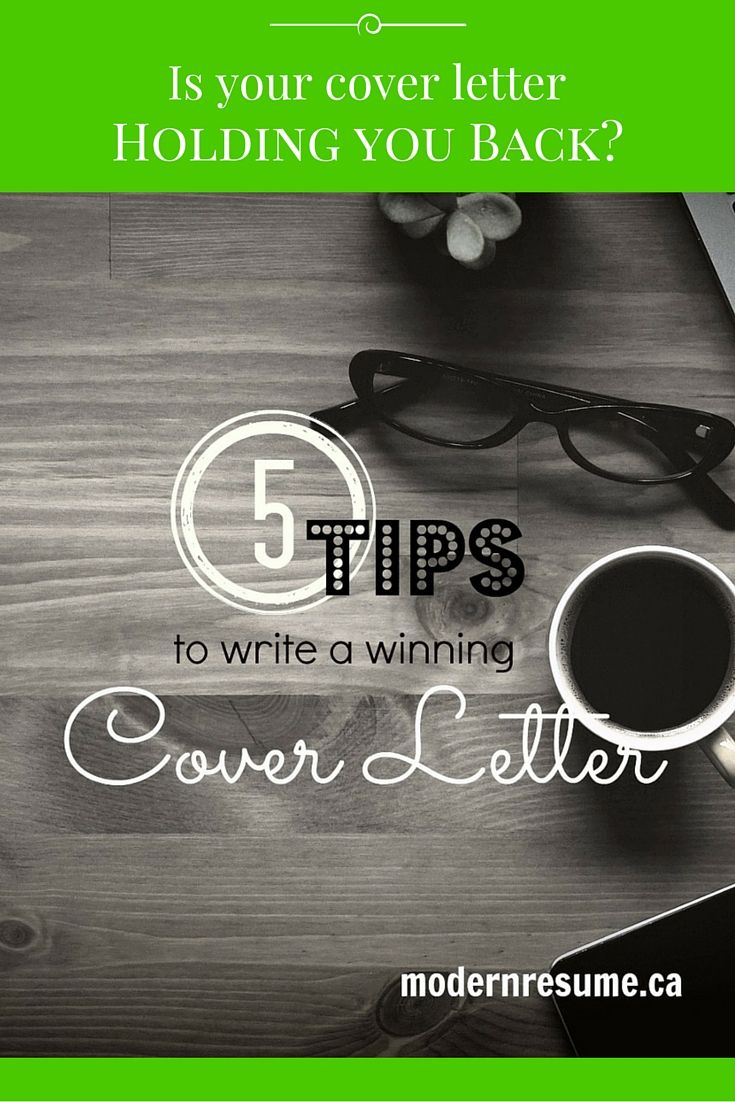 Is your cover letter holding you back