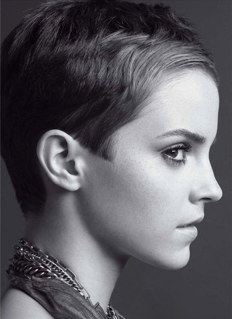 Emma Watson - not that many people can pull off that haircut, but she does!