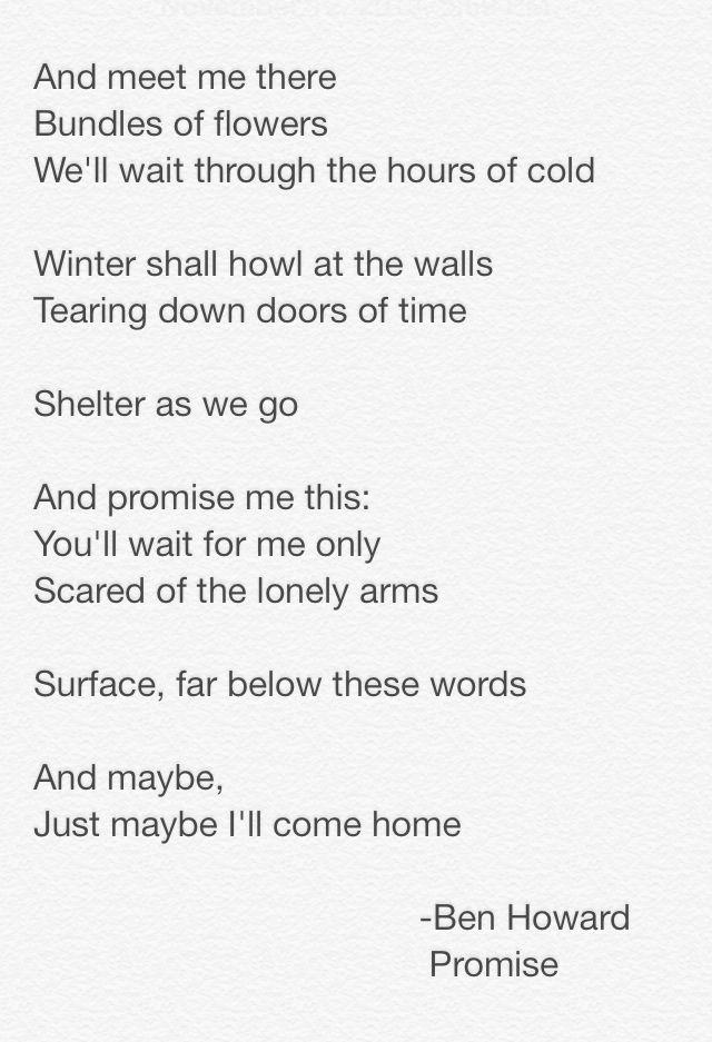 Ben Howard - Promise lyrics