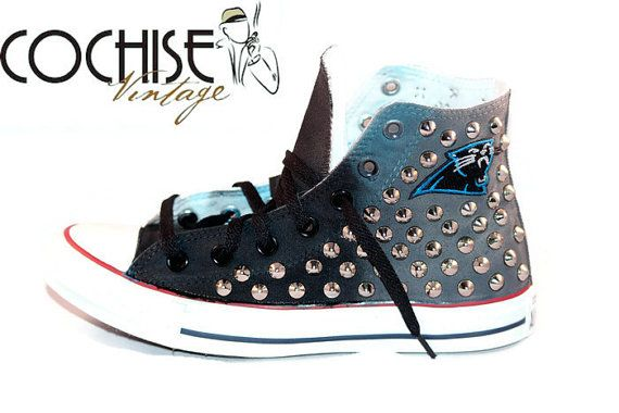 Carolina Panthers Custom Converse Chuck Taylors by CochiseVintage