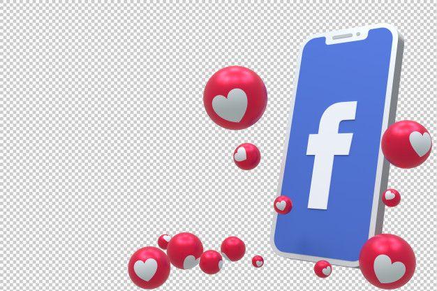 El Icono De Facebook En La Pantalla Del Premium Psd Freepik Psd Corazon Facebook Icons Like Emoji Freepik
