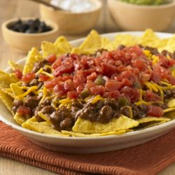 enough to be a meal.: Rotel Cowboy, Cowboy Nachos, Black Beans, Nachos ...