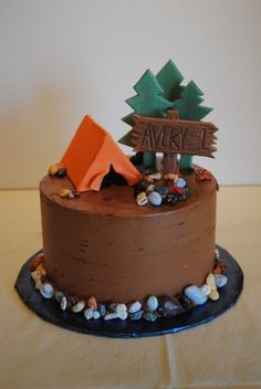 Pacific Northwest Camping Cake